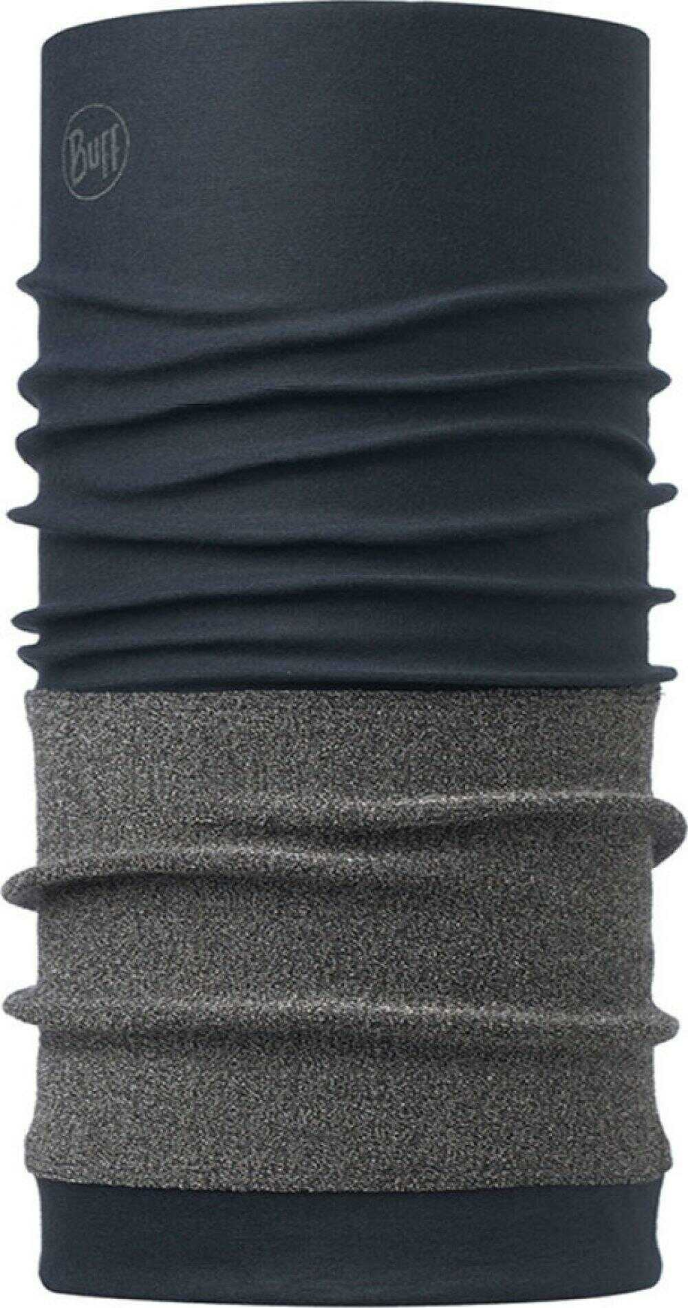 """Image of the Cutproof Buff® design """"Navy"""". It's blue tube (neck sock) with a grey cut protection layer covering most of the lower half of the Buff®. Source: buff.eu"""
