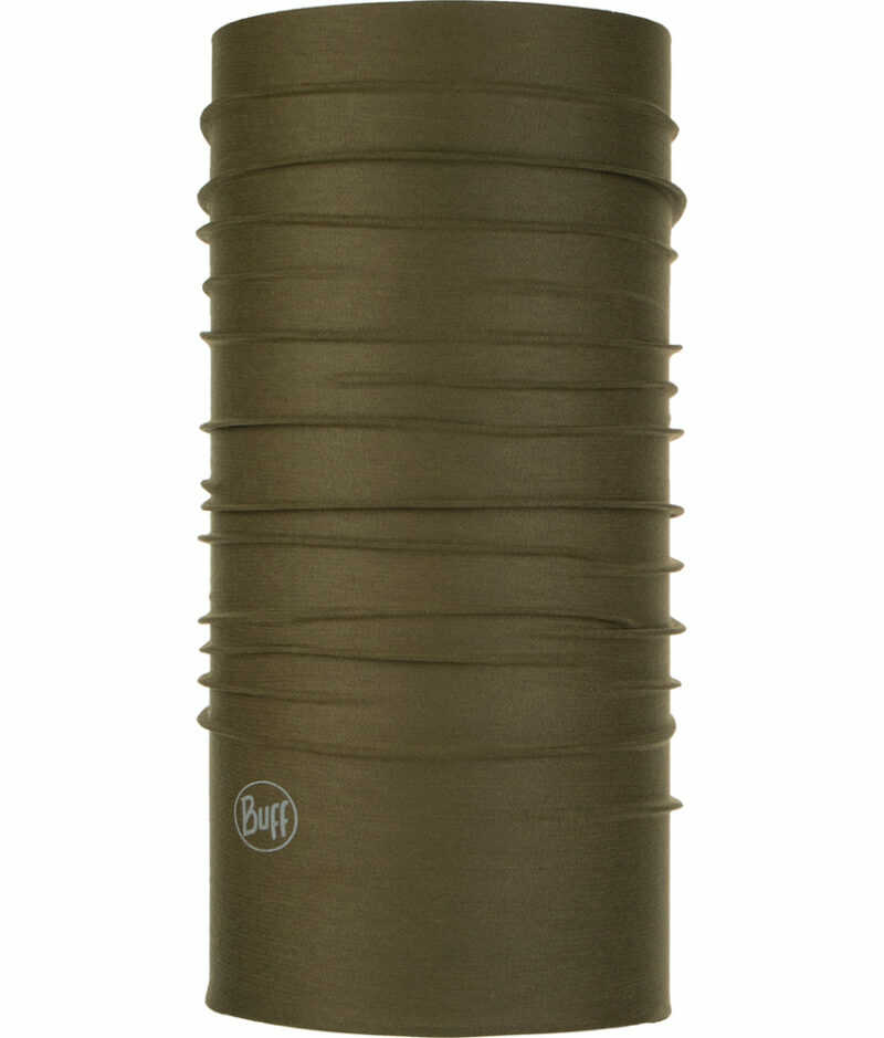 "Studio photo of the Coolnet UV Plus Buff® Design ""Solid Military"". Source: buff.eu"