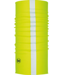 "Studio photo of the Coolnet UV Plus Buff® Design ""R-Solid Yellow Fluor"". Source: buff.eu"