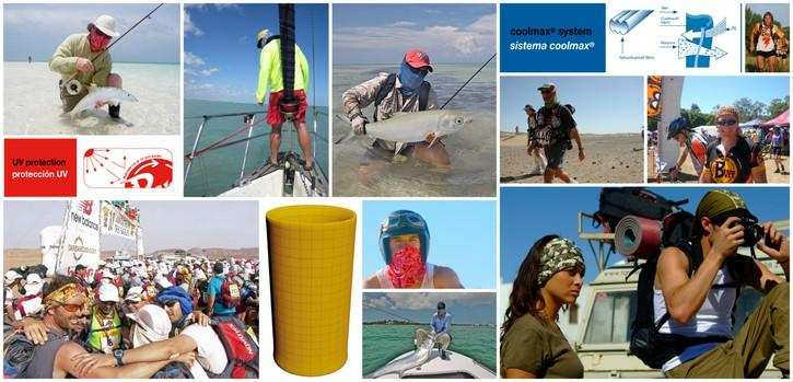 Collage. Ways the global Buff® community loves to wear the Coolnet UV+ Buff®