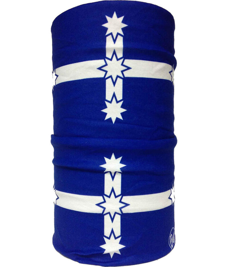 "Studio photo of the Original Buff® Design ""Eureka Flag"". Source: buff.eu"