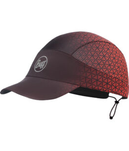 "Studio Photo of the Buff® Pack Run Cap Design ""Equilateral Red"". Source: buff.eu"