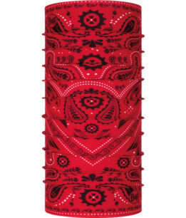 "Studio photo of the Original Buff® Design ""New Cashmere Red"". Source: buff.eu"