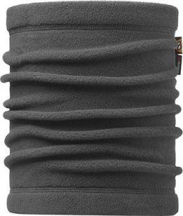 "A studio photo of the Neckwarmer Buff® design ""Grey"". It's a solid grey fleece colour. Source: buff.eu"