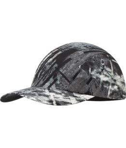 "Studio photo of the Pro Run Cap design ""City Jungle Grey"". Source: buff.eu"
