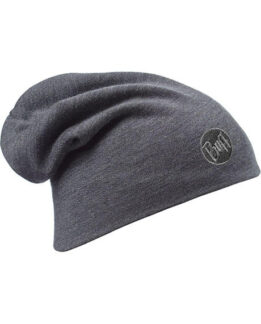 "Studio photo of the Buff® Heavyweight Merino Wool Loose Hat Design ""Grey"". Source: buff.eu"