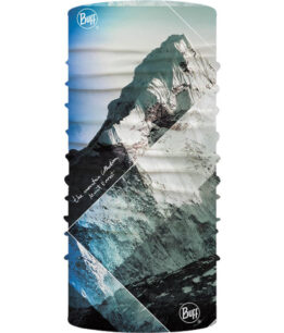 "Studio photo of the Original Buff® Mountain Collection Design ""Himalayas Mount Everest"". Source: buff.eu"