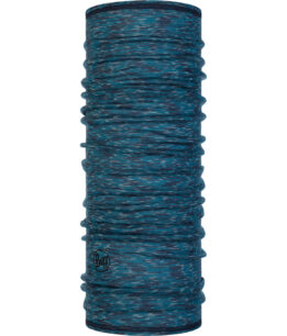"Studio photo of the Lightweight Merino Wool Buff® Design ""Lake Blue Multi Stripes"". Source: buff.eu"
