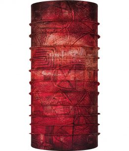 "Studio photo of the Coolnet UV Plus Buff® Design ""Zadi Terracotta"". Source: buff.eu"