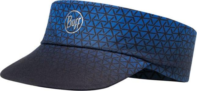 "Studio photo of the Pack Run Visor design ""Equilateral Cape Blue"". Source: buff.eu"